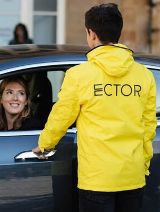 Book a valet service